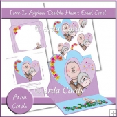 Love Is Ageless Double Heart Easel Card