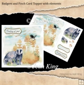 Badgers and Finch Card Topper with elements