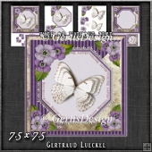 Vintage Lace Flowers Butterfly Card Kit 1249