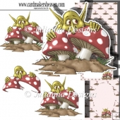 Hiding Goblin Decoupage Set