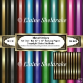 Metal Stripes - Set One - Ten 12 x 12 Sheets