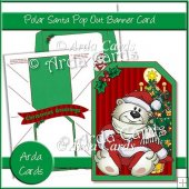 Polar Santa Pop Out Banner Card