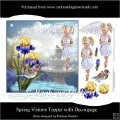 Spring Visitors Topper with Decoupage