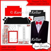 Dressed To Thrill! Men's Tuxedo Valentine Day Birthday Card
