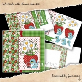 Cute Birdie with Flowers Mini Kit