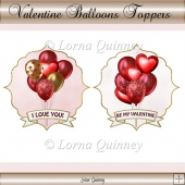 Valentine Balloons Toppers