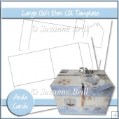 Large Gift Box CU Template