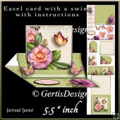 Easel Card With A Swing green