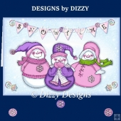 Happy Snowmen Trio with Freebie Gift Tags