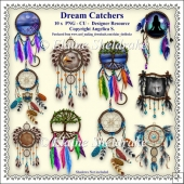 Dream Catchers - Set One - CU - PNG Clipart - Designer Resource