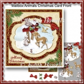 Mailbox Animals Christmas Card Front