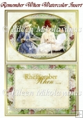 Remember When Watercolor Ladies Card Insert