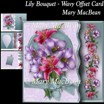 Lily Bouquet - Wavy Offset Card