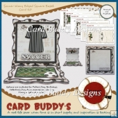 Soccer Wavy Edged Square Easel Card Kit