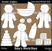 Babys World Boys Colour Your Own Reseller Clipart
