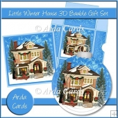 Little Winter House 3D Bauble Gift Set