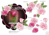 ENCHANTED ROSE TOPPER WITH DECOUPAGE SHEET 1