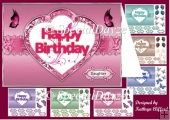 Happy birthday in heart multi pack