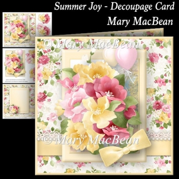 Summer Joy - Decoupage Card
