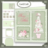 Square Christmas card set