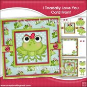I Toadally Love You Card Front & Insert Panel