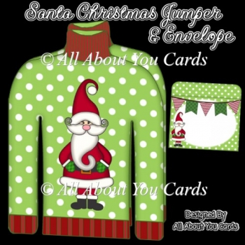 Santa Christmas Jumper Card & Envelope