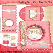 Scallop Tent Card Time for Tea