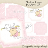 Ready to Print Nestins Topper - Baby Girl(Retiring in July)