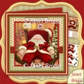 Shattered Santa 8x8 Christmas Decoupage Kit