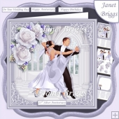 SILVER STRICTLY COME DANCING 7.5 Decoupage & Insert Mini Kit