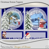 Christmas Scenes Toppers/ Card Fronts/ Easel Panels