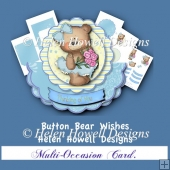 Button Bear Wishes - Multi-Occasion Card