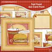 Fast Food 6x6 Card Front