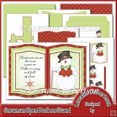 Snowman Open Book Decoupage