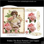 Within The Rose Portrait Card Topper