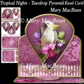 Tropical Nights - Teardrop Pyramid Easel Card