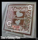 Engaged Engagement lovely gift multi cutting file formats