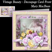 Vintage Beauty - Decoupage Card Front