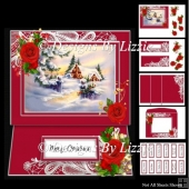 Snowy Cottage Christmas Easel Card