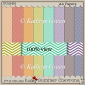 Beautiful Chevron Patterned Papers - A4 - Summer Colours