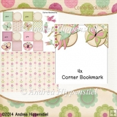 4 Corner Bookmark Hummingbird