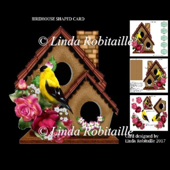 Birdhouse Shaped Card