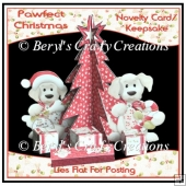 Novelty 3D Tree Card - Pawfect Christmas