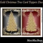 Gold Christmas Tree Card Toppers Duo