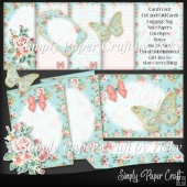 Shabby Rose Stationery Set