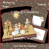 3D Pop-Up Scene - Nativity