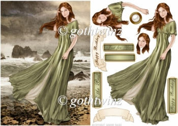 Lady Guinevere (Green) With Matching Insert