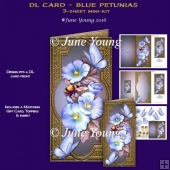 Blue Petunias DL Card