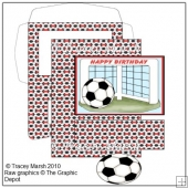 Red Football Goal Easel Card Making Set