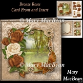 Bronze Roses Card Front and Insert